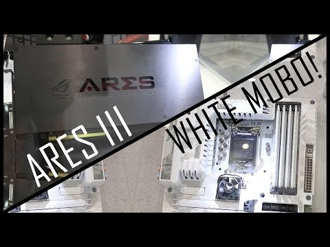 ARES III & an All-White Motherboard - Asus at Computex 2014