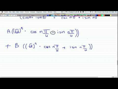Discrete Math 2 -Tutorial 28 -Complex Root Recurr Relation 2