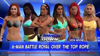 WWE 2K17: WOMEN BIKINI BATTLE ROYAL #SMACKDOWN
