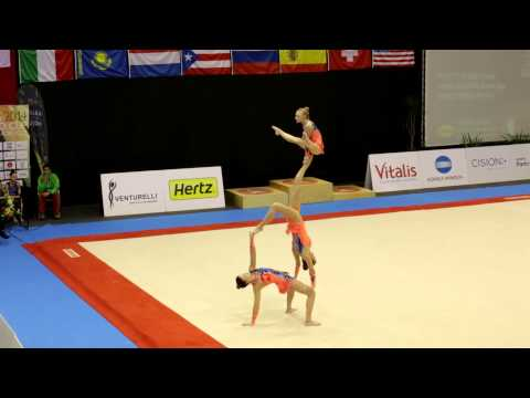 Gymnastics FIG Acro World Cup Maia 2014 WG Balance GBR