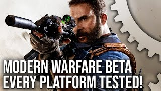 [4K] Call of Duty Modern Warfare Beta: PS4/Pro/Xbox One/X/PC Cross-Play Tested!
