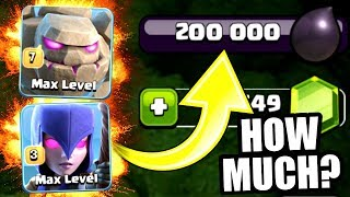 IS THIS THE MOST EXPENSIVE DARK ELIXIR ARMY IN HISTORY!? - Clash Of Clans