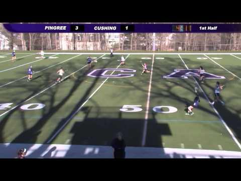 Cushing Academy-Varsity Girls Lacrosse vs. Pingree School - 04/15/2014