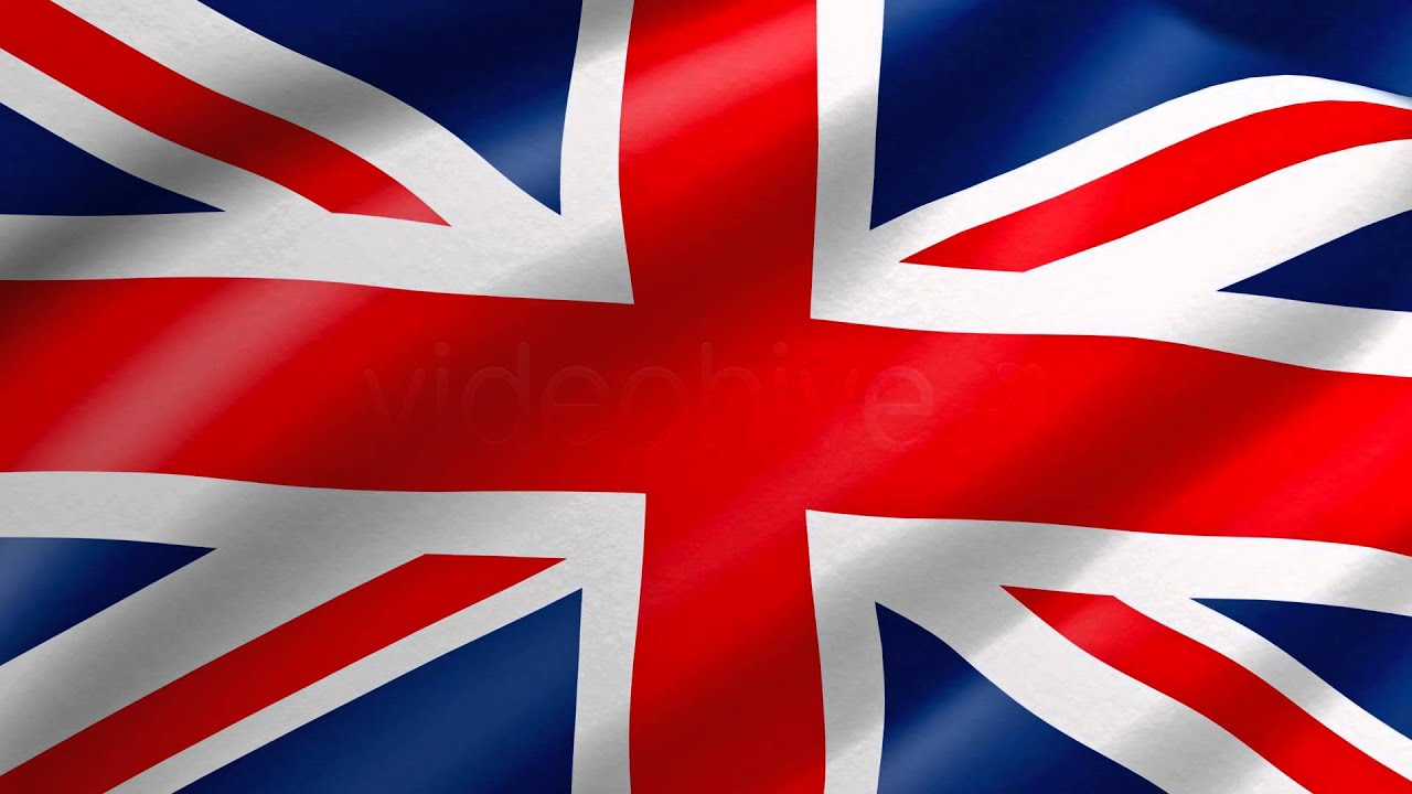 UK United Kingdom Flag Waving Loop 4K