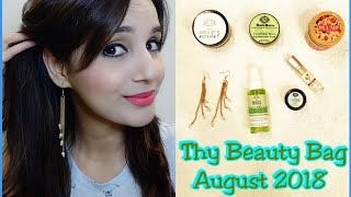 Thy Beauty Bag August 2018 |  Unboxing & Review | Organic & Natural Products |