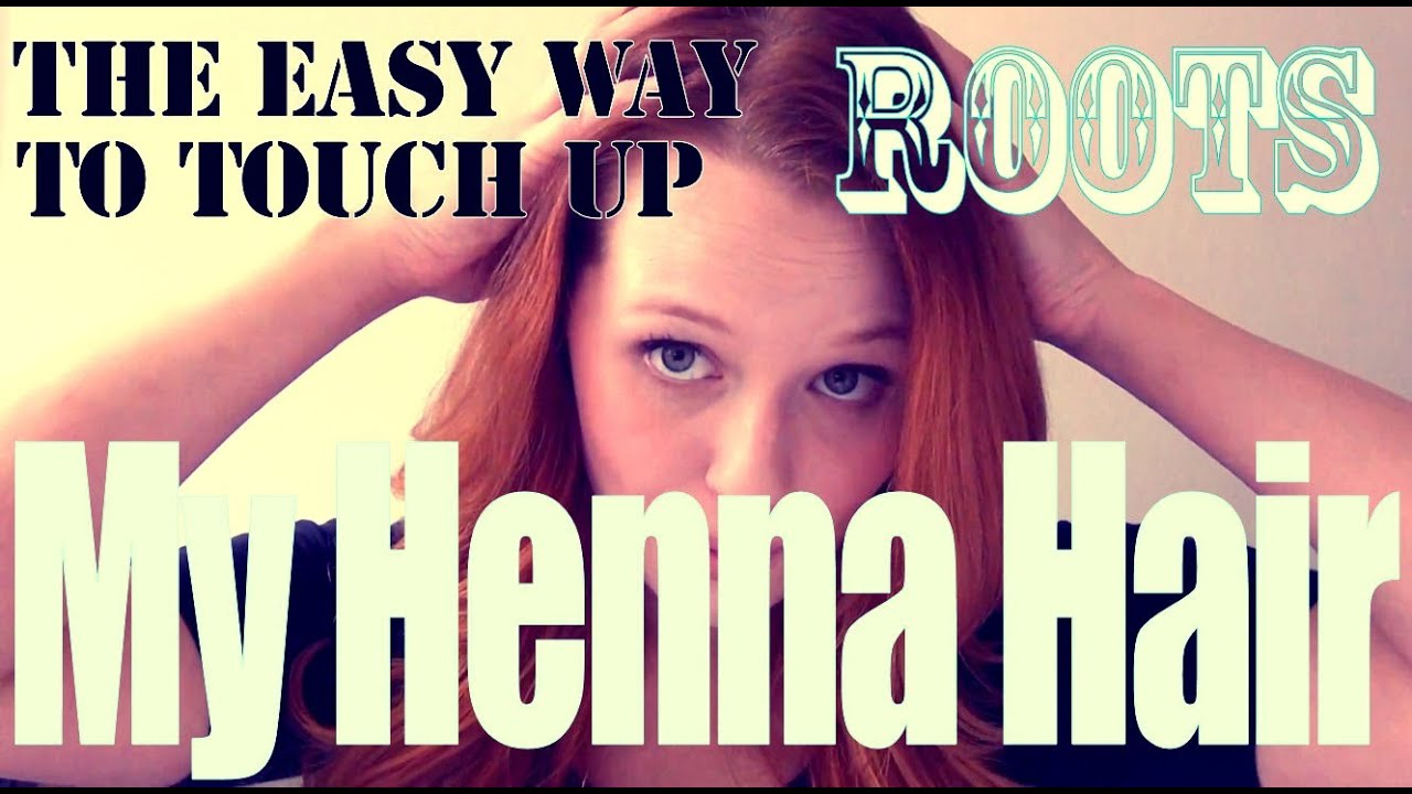 My Henna Hair The Easy Way To Touch Up Roots YouTube