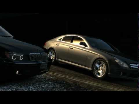 GTA 4 BMW E66 vs Mercedes CLS 1080p HD4870 Q6600  [HD] [ Car mods + RealizmIV + VisualIV + ENB  ]