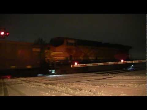 Trains 2013 - Empty Coal Train Sent East In The Snow - Railfanning HD