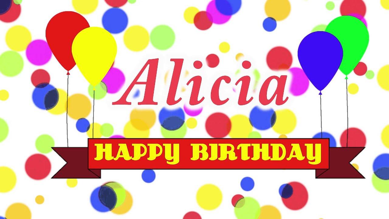 happy birthday alicia youtube