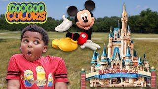 Goo Goo Transform House into Disney World! Fun Pretend Play with Goo Goo Colors