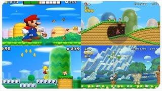 New Super Mario Bros. Series - Evolution of World 1-1 Levels (NSMB, NSMBW, NSMB2, NSMBU, NSLU)