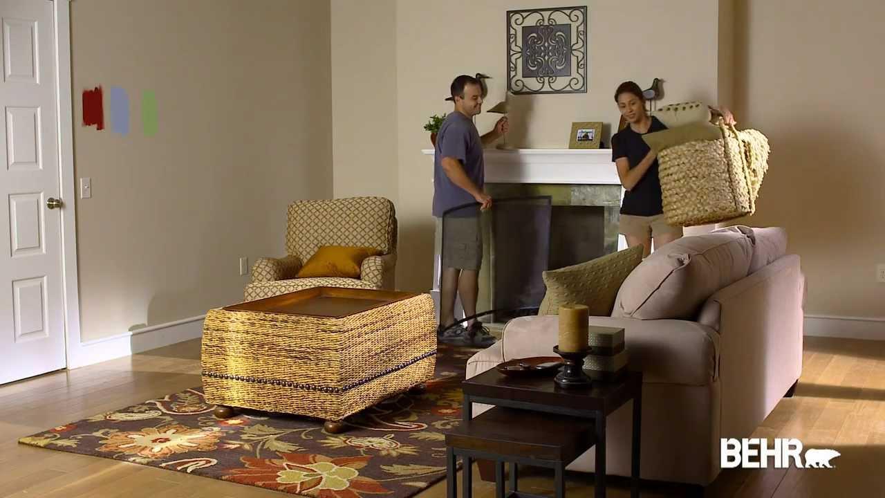Pintura behr como preparar su habitacion para pintar for Puntura para interiores