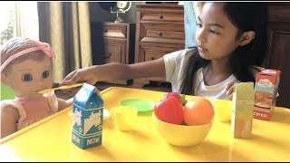 Grocery Shopping + Breakfast with LuvaBELLA | Toys Academy