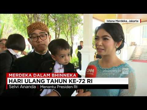 Untuk Pertama Kali, Gibran dan Keluarga Putra Sulung Presiden Jokowi Ikut Perayaan HUT ke 72 RI