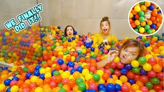 WE TURNED OUR SHOWER INTO A BALL PIT!!