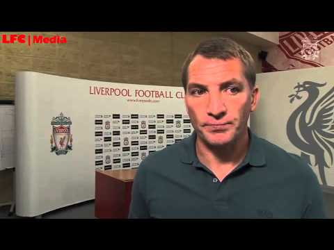 Brendan Rodgers reacts to Liverpool's Champions League draw