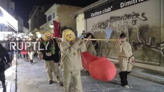 Greece: Dionysian worshippers carry giant phallus across Athens