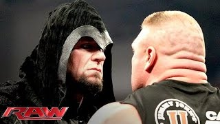 Brock Lesnar Is Surprised By The Return Of The Undertaker Raw Feb 24 2014 VideoMp4Mp3.Com