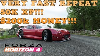 FORZA HORIZON 4 STUPID EASY FAST MONEY AND XP LEVEL QUICK