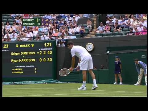 Grigor Dimitrov vs Ryan Harrison Wimbledon 2014 Round 1 Part 2