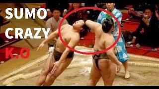 Sumo Wrestling Brutal And Best Knockouts Compilation 2017