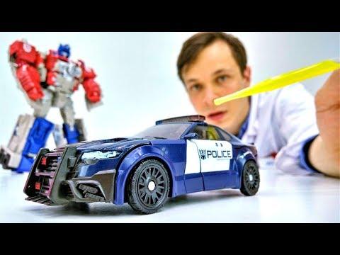 #Трансформеры *Оптимус Прайм связал Баррикейда!* #Машинки полицейские #ИгрыДляМальчиков Роботы