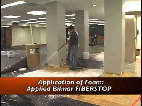 Floor tile abatement using FoamShield's patented method