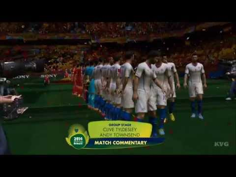 2014 FIFA World Cup Brazil - Spain vs Chile Gameplay [HD]