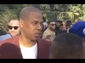 Jay-Z  Shows Fake Love To T I  At Roc Nation Grammy Party  -