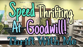 Speed Thrifting At Goodwill | THRIFT WITH ME | Reselling Vintage For Profit