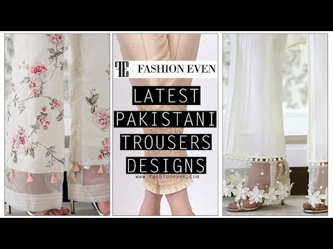 Latest Pakistani Trousers Designs For Girls