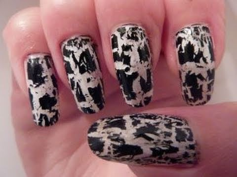 BarryM Nail Paint Instant Effects Black & White Crackle Graffiti Art Polish Review Barry M HD Video