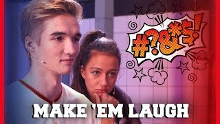GIO IS ER KLAAR MEE TIJDENS MAKE 'EM LAUGH ?! | Gio, Dylan, Jill, Sophie | Challenges Cup #8