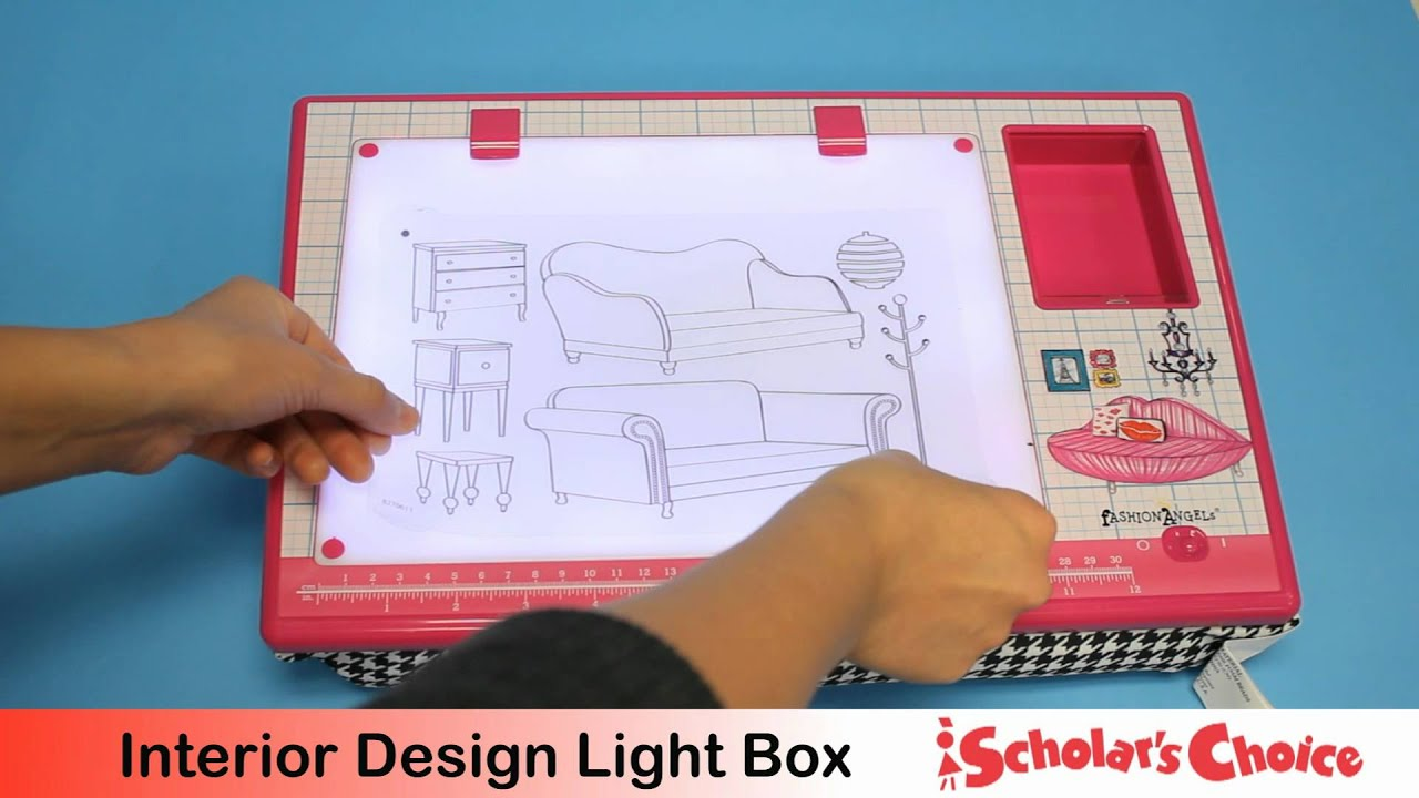 Fashion angels interior design light box youtube for Interior design in a box