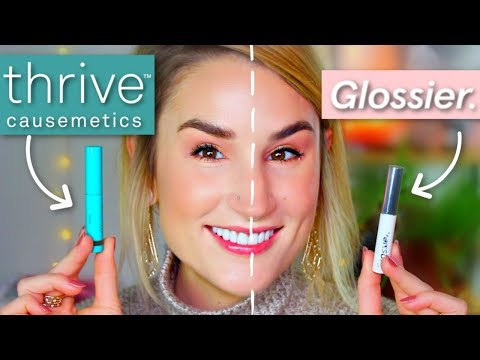 NEW THRIVE INSTANT BROW FIX vs GLOSSIER BOY BROW   Try On Comparison + Honest Review