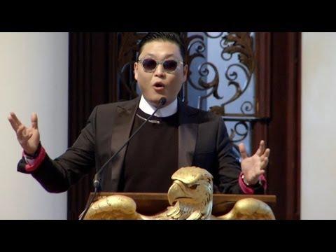 """Gangnam Style"" Singer PSY Visits Harvard"