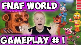 FNAF WORLD #1 - FIRST BOSS MOB + 2 NEW CHARS DISCOVERED