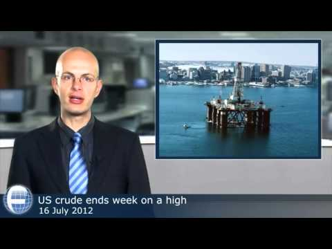 US crude ends week on a high