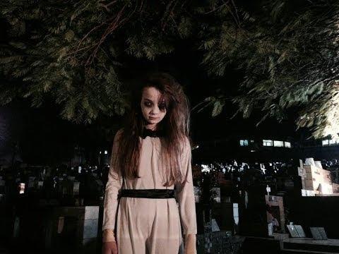 Pegadinha Menina Fantasma no Cemitério