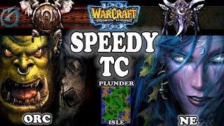 Grubby | Warcraft 3 TFT | 1.29 | ORC v NE on Plunder Isle - Speedy TC