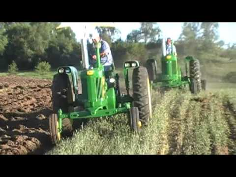 John Deere 530 and 730 plowing