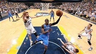 Reggie Jackson Pours in 32 for the Thunder in Memphis