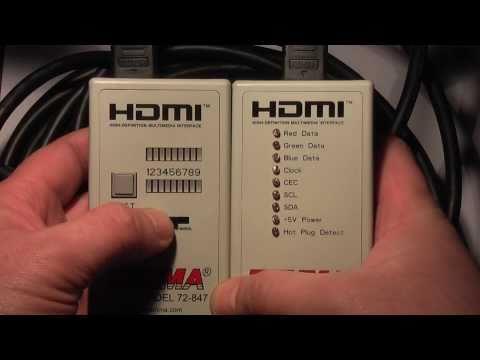 Видео как проверить HDMI-кабель на работоспособность