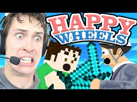 Happy Wheels - MINECRAFT WARS
