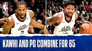 Kawhi Leonard & Paul George Combine For 65!