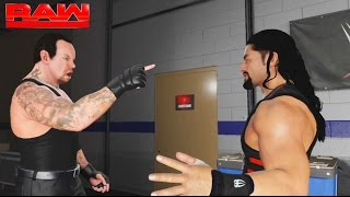 The Undertaker and Roman Reigns Face to Face toe to toe at Backstage-RAW 2017 - WWE 2K17