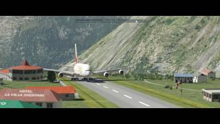 Big Airliner Landings at Lukla with X Plane 11