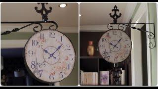DIY Reloj Vintage para la pared