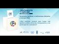 Sociedades pacíficas e instituciones eficientes y transparentes
