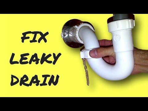 Repair Leaky Sink Drain Pipe